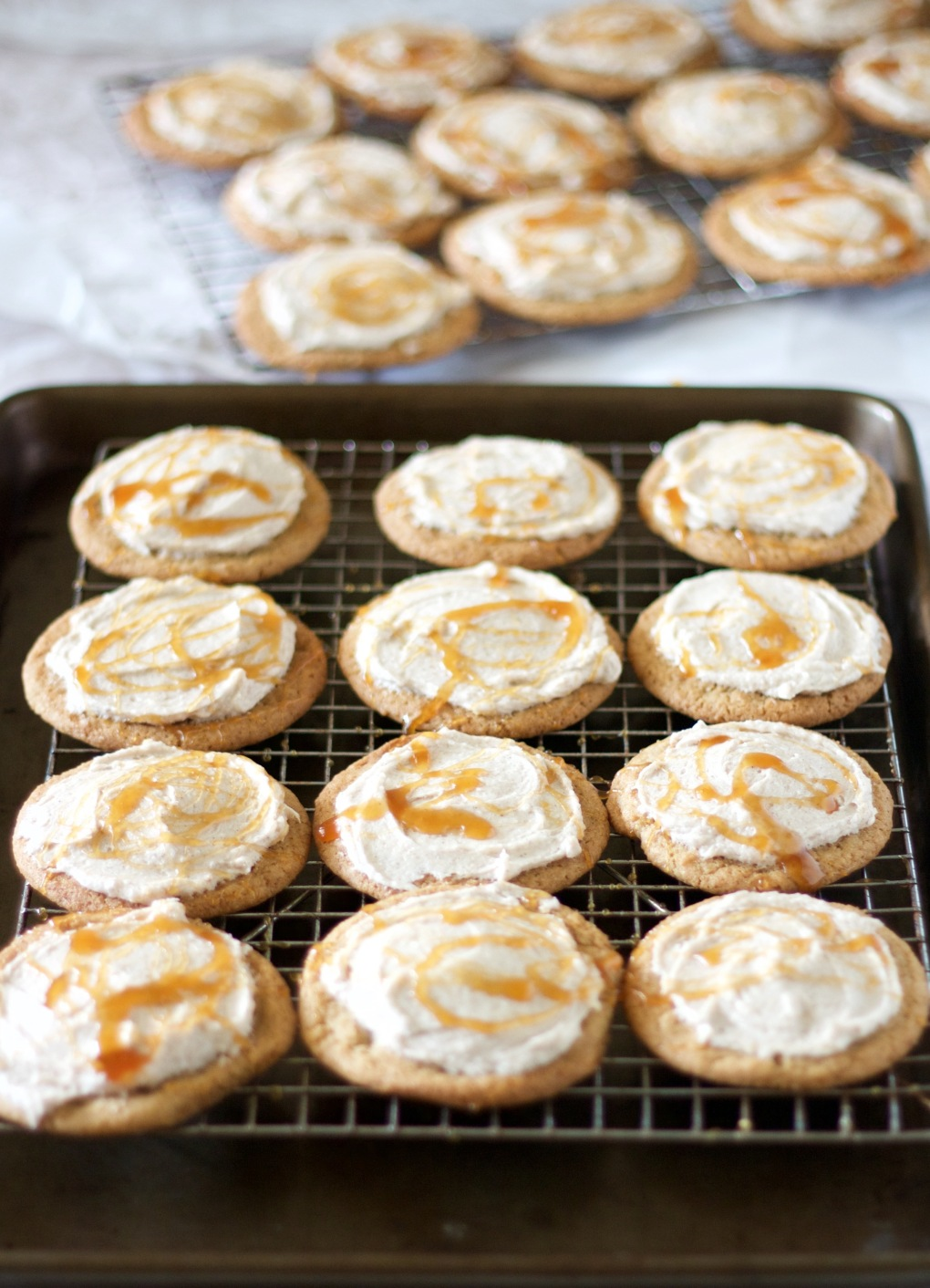 frosted-brown-sugar-cookies-with-apple-cider-glaze