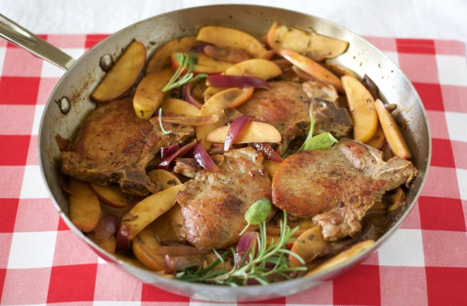 quick-pork-chops-and-apples-in-sage-cream-sauce